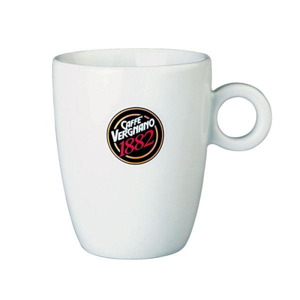 6 mug blancs caffè vergnano