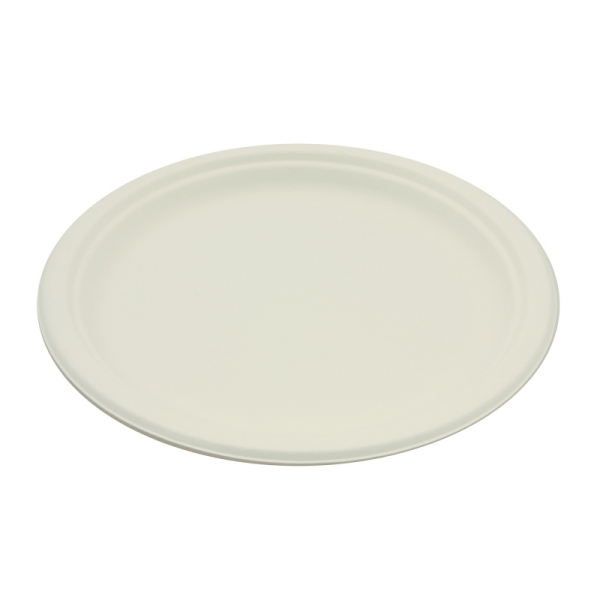 50 assiettes rondes rigides biodégradables 23 cm