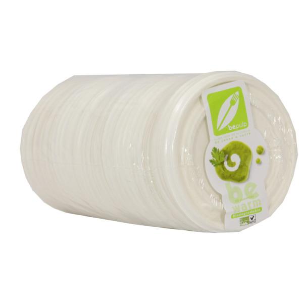 50 couvercles bol à soupe biodégradables
