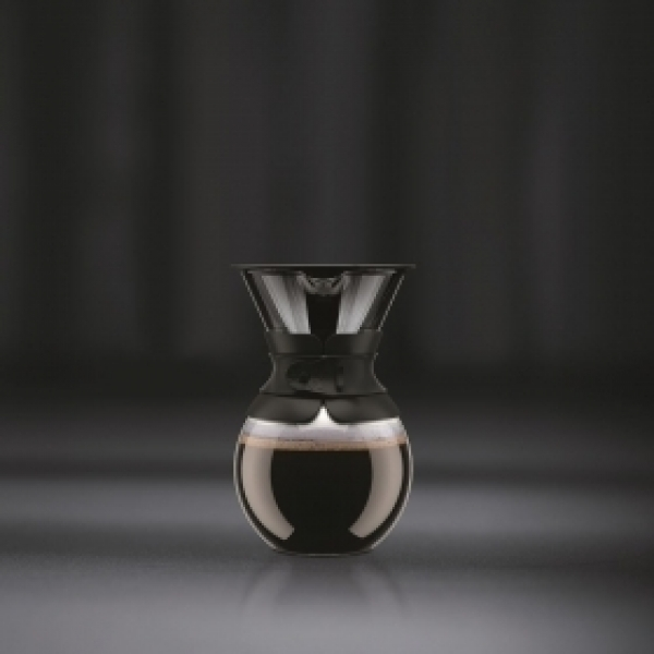 cafetière pour over bodum® filtre en titanium doré 1 l noir