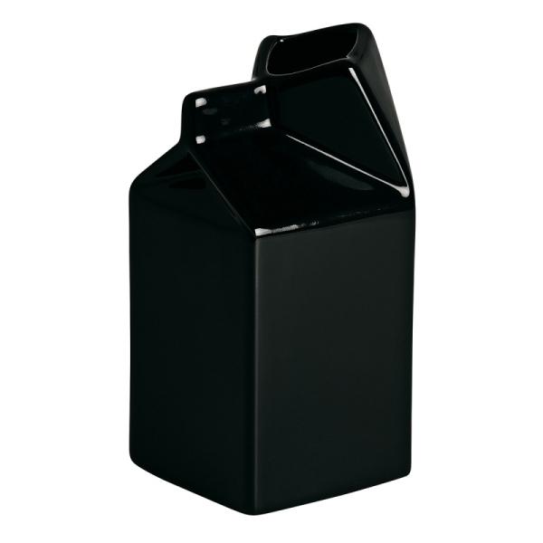 brick de lait en porcelaine noire de seletti