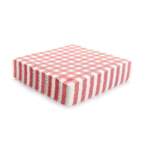 20 serviettes vichy - rouge