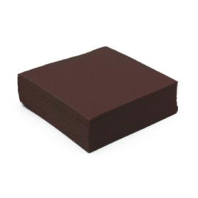 50 serviettes cocktail papier microgaufré double épaisseur chocolat 25 cm