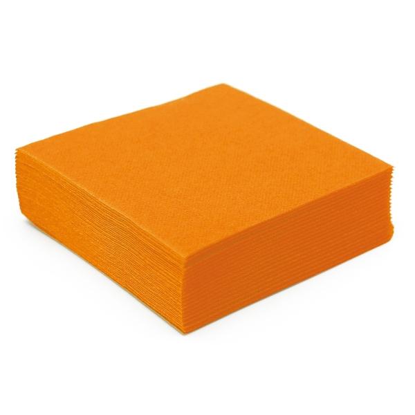 50 serviettes papier microgaufré double épaisseur mandarine38 cm