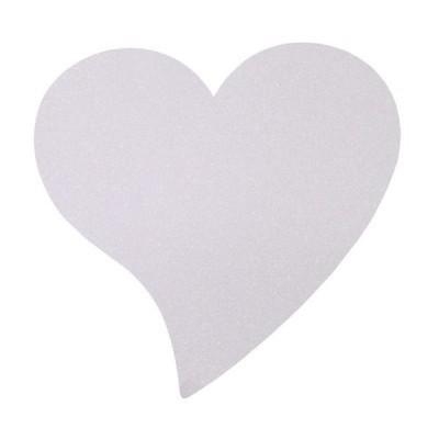 set de table blanc coeur pailleté - 2 pièces