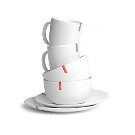 set petit déjeuner en porcelaine blanche