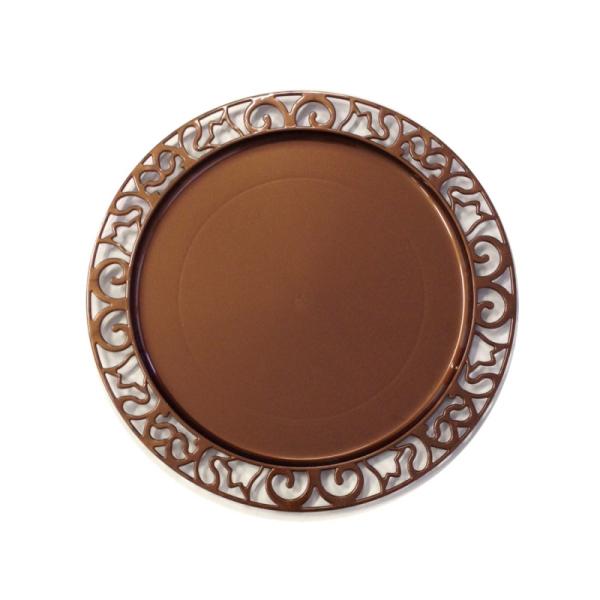 4 sous-assiettes rondes marron 30 cm