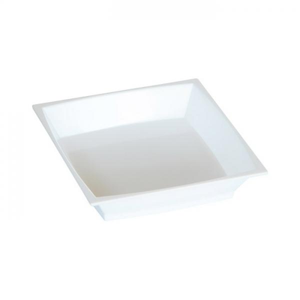 50 petites assiettes milan en plastique blanc 7 cm