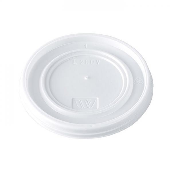 100 couvercles en plastique pour gobelets thermo 19 cl