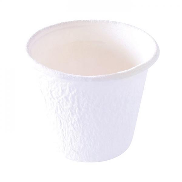 150 pots à sauce en bagasse blanc 85 ml