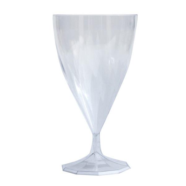 6 verres à eau design plastique rigide transparent 20 cl