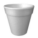 100 gobelets en polystyrène isotherme blanc 18 cl