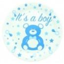 10 assiettes en carton baby shower boy 23 cm
