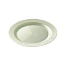 12 assiettes en plastique rigide ronde blanc nacré PRESTIGE 19 cm