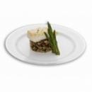 200 assiettes en plastique rigide blanc liseré argent 19 cm