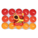 30 bougies chauffe-plat parfum fruits tropicaux
