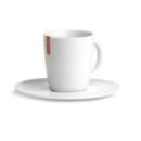 2 tasses à café avec soucoupe en porcelaine blanche
