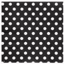 20 serviettes motif à pois - noir