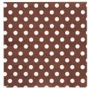 20 serviettes motif à pois - chocolat