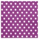 20 serviettes motif à pois - prune
