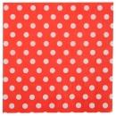 20 serviettes motif à pois - rouge