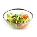 4 saladiers en plastique rigide avec bord argent 27 cm