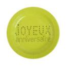 10 assiettes joyeux anniversaire en carton - vert