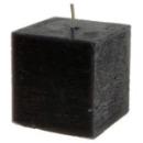bougie carrée - noir