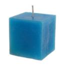 bougie carrée - bleu turquoise