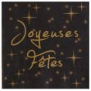 20 serviettes de table joyeuses fêtes en papier - noir