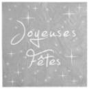 20 Serviettes de table Joyeuses Fêtes en papier - Gris