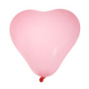 8 ballons coeur - rose