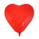 8 ballons coeur - rouge