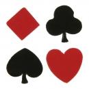 50 Confettis Poker - Rouge / Noir