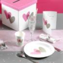 10 Gobelets Coeurs en carton - Rose