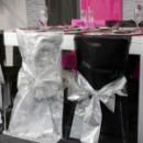 2 housses de chaise Fanon métallisé avec noeud - Argent