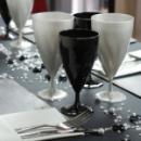 6 verres à eau design plastique rigide argent 25 cl