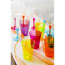 10 verres en plastique rigide framboise 20 cl