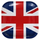 10 Assiettes Angleterre en carton - Tricolore