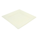 50 assiettes carrées biodégradables 19 cm