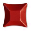 8 coupelles carrées en carton rouge opaque WASABI