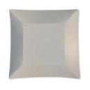8 assiettes à dessert carrées en carton blanc opaque WASABI
