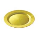 12 assiettes en plastique rigide ronde or prestige 19 cm