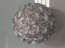 3 Bougies avec détail Rose - Argent