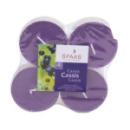 4 bougies chauffe-plat parfum cassis
