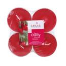 4 bougies chauffe-plat parfum cerise