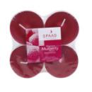 4 bougies chauffe-plat parfum mûres