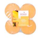 4 bougies chauffe-plat parfum papaye