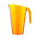 carafe en plastique rigide orange 1,5 l