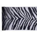 Chemin de table zebra noir - 28 cm x 5 m